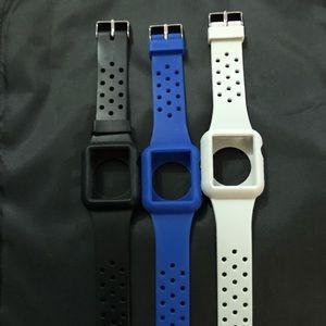 Set of 3 Rubber Apple Watch Strap-38mm